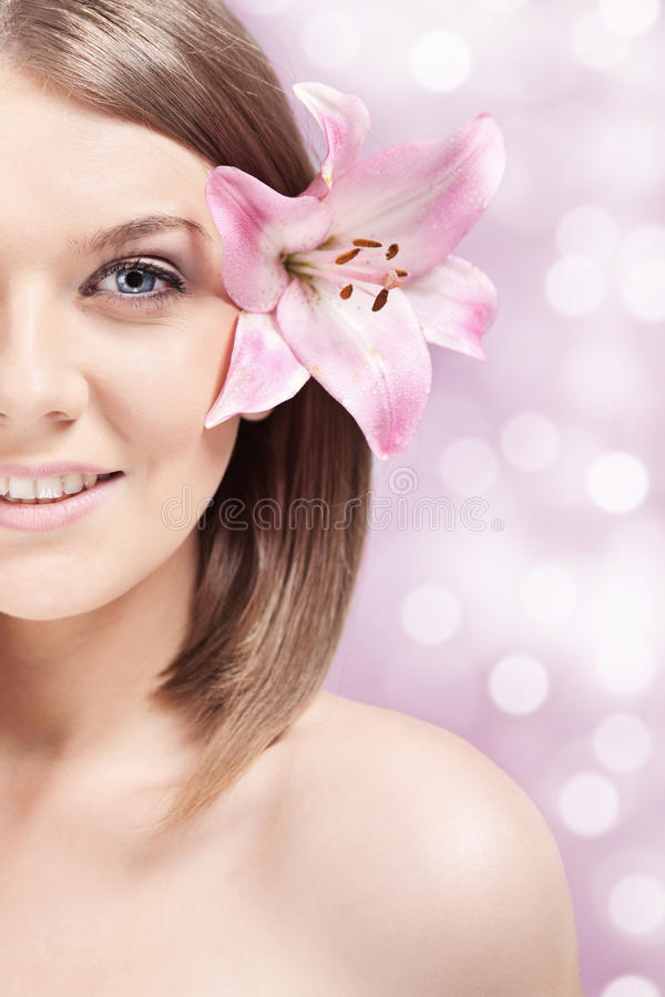 Free Half Face, Spa Woman Royalty Free Stock Photography - 20913097