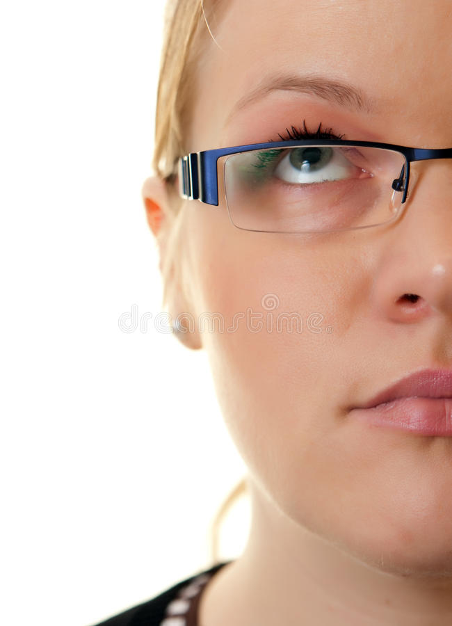 Half face woman stock photography