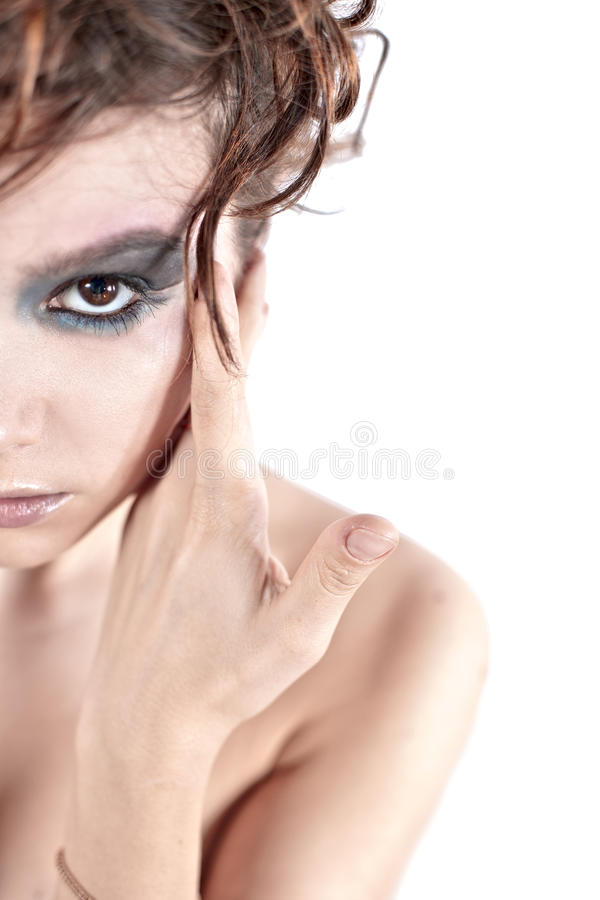 Download Half face of woman stock image. Image of fashion, mouth - 22397315