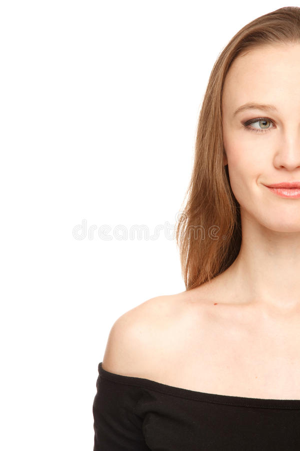 Download Half face of woman stock image. Image of positivity, face - 28542433