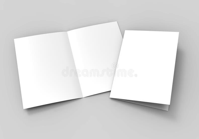a3 half fold brochure blank white template for mock up and presentation design 3d illustration. Black Bedroom Furniture Sets. Home Design Ideas