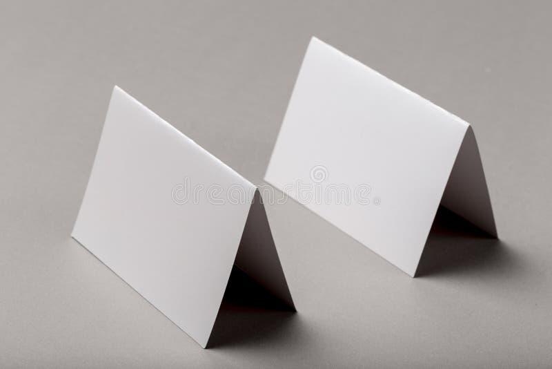 Half-fold horizontal brochure blank white template for mock up and presentation design stock photo
