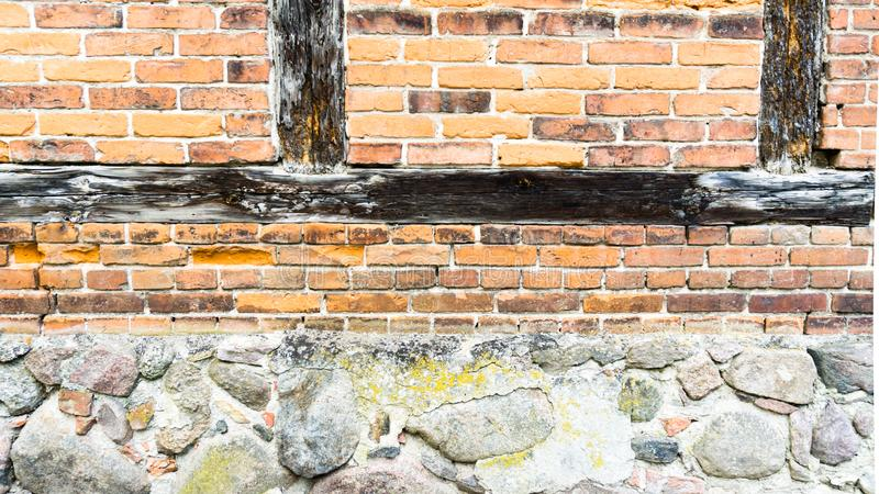 Half frame wall in town royalty free stock photo