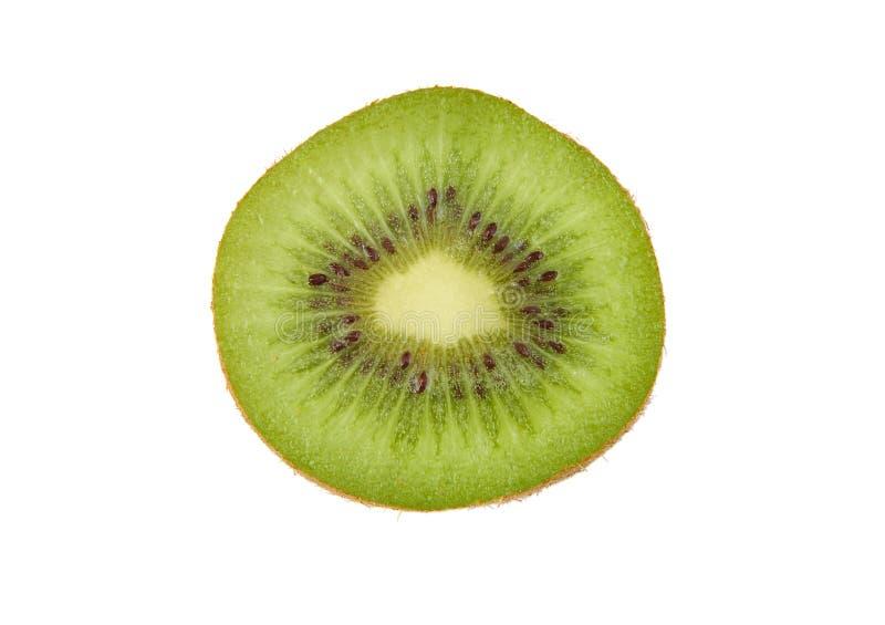 Half fresh kiwi isolated on white background. royalty free stock photography