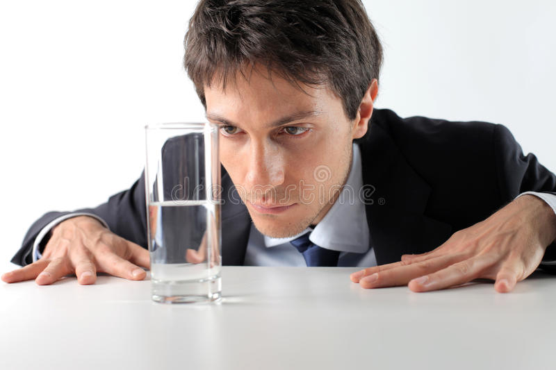 Download Half-full glass stock photo. Image of male, water, relative - 14640632