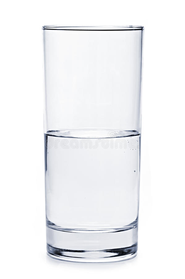 Half full glass of water royalty free stock photos