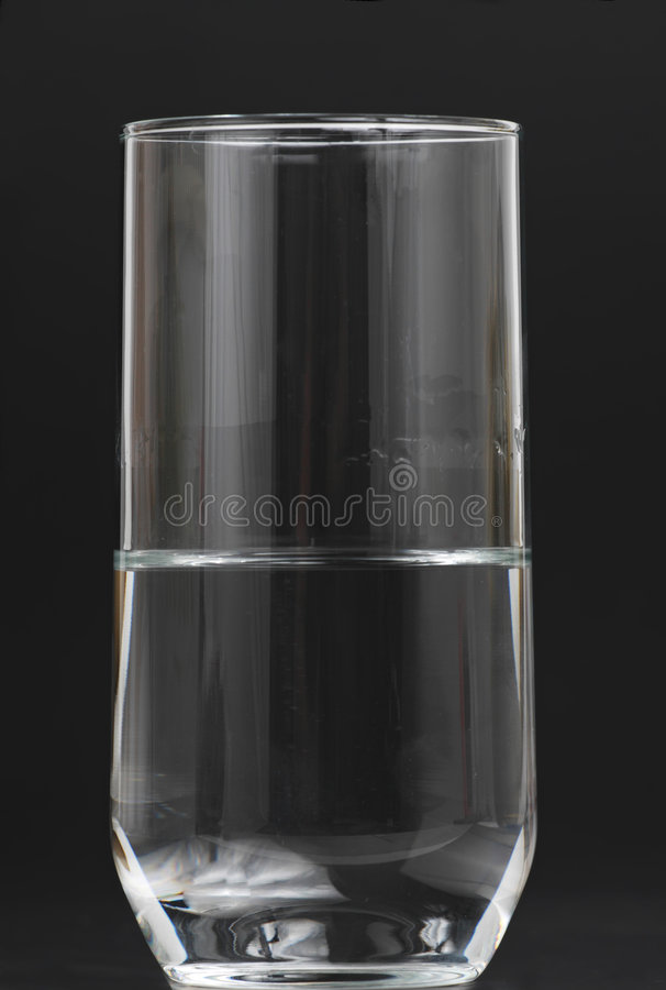 Download Half full water glass stock image. Image of drink, empty - 8419569