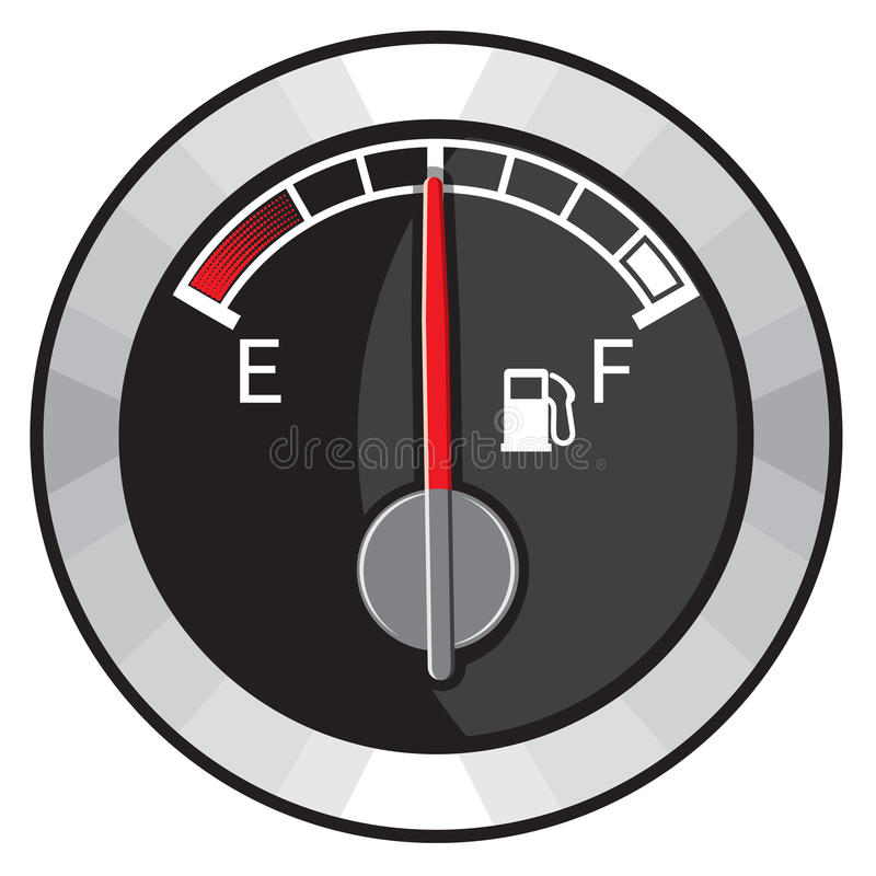 Download Half gas tank stock vector. Illustration of control, background - 32620308