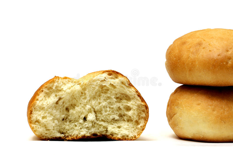 Half gegeten broodje royalty-vrije stock foto