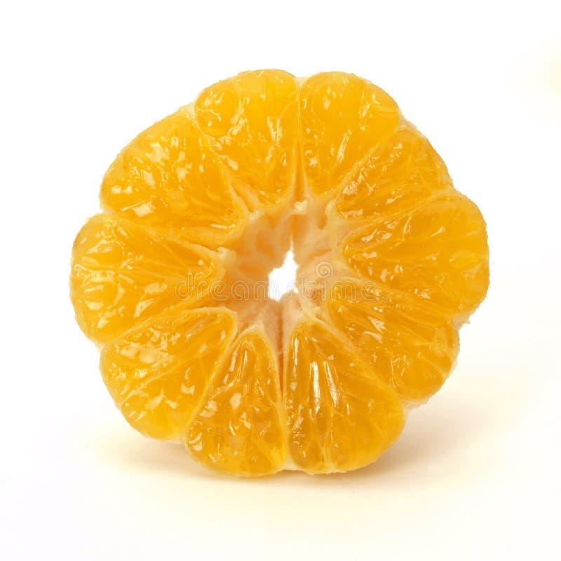 Half gepelde mandarijn royalty-vrije stock foto's
