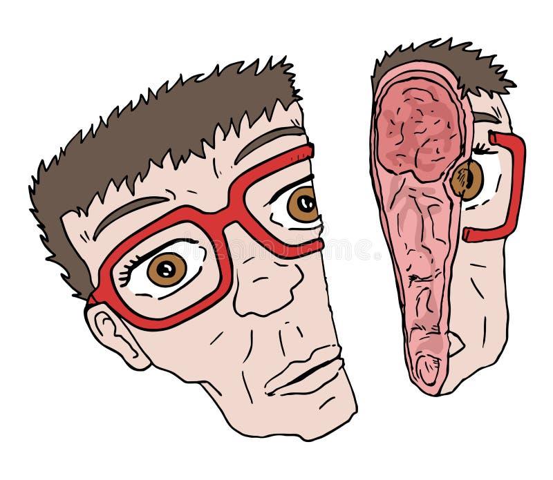 Half gezicht stock illustratie