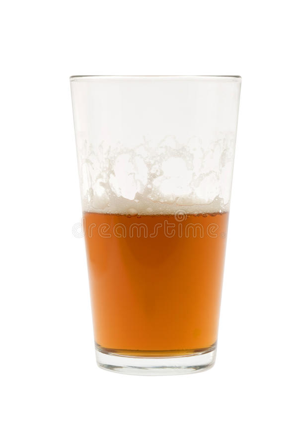 Download Half Glass Of Beer, Ale Or Lager Stock Image - Image: 12852693
