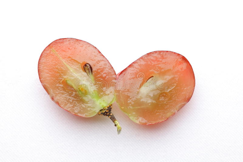 Half grape stock image
