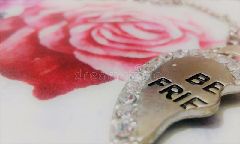 Half heart pendant royalty free stock photo