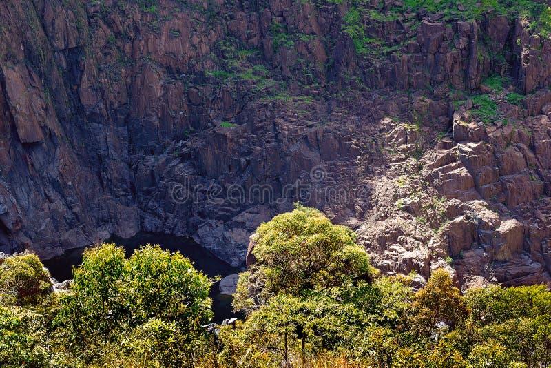 A Half Hidden Rocky Waterhole stock images