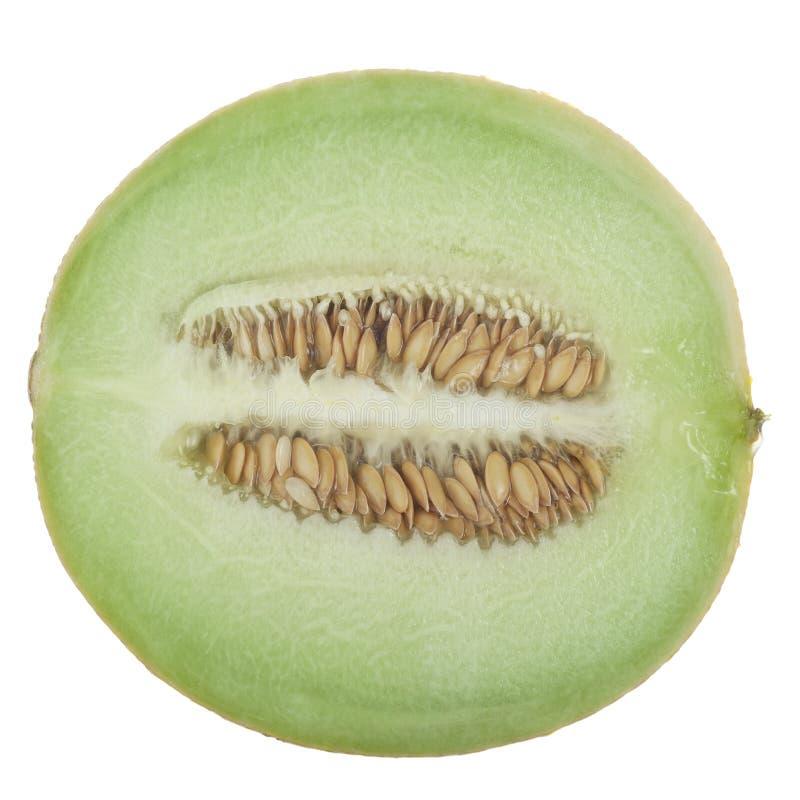 Half a Honeydew. Melon on a white background stock photo