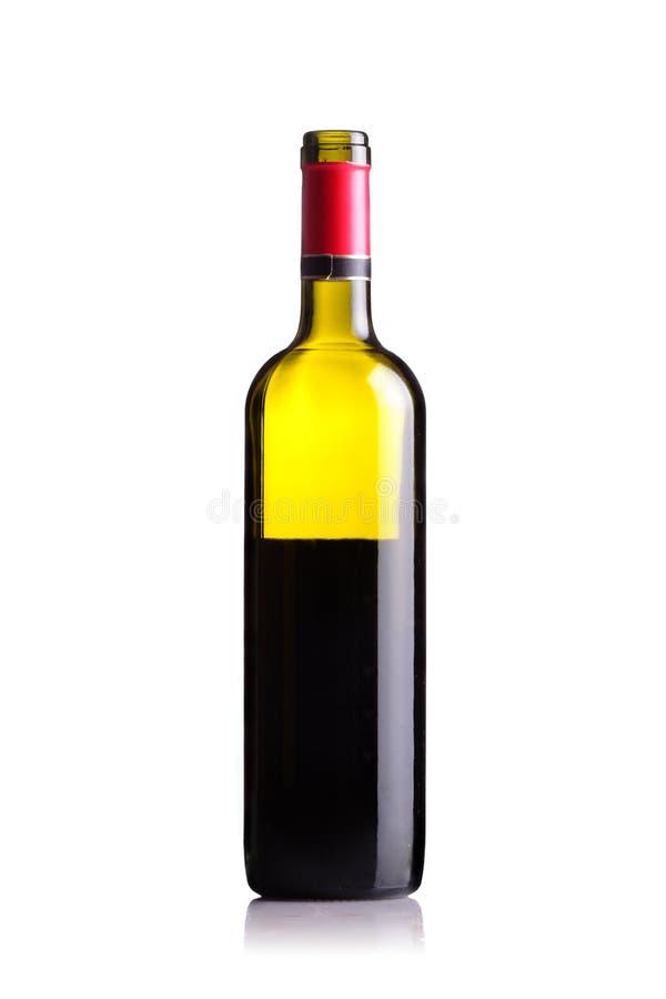 Half lege rode wijnfles royalty-vrije stock foto