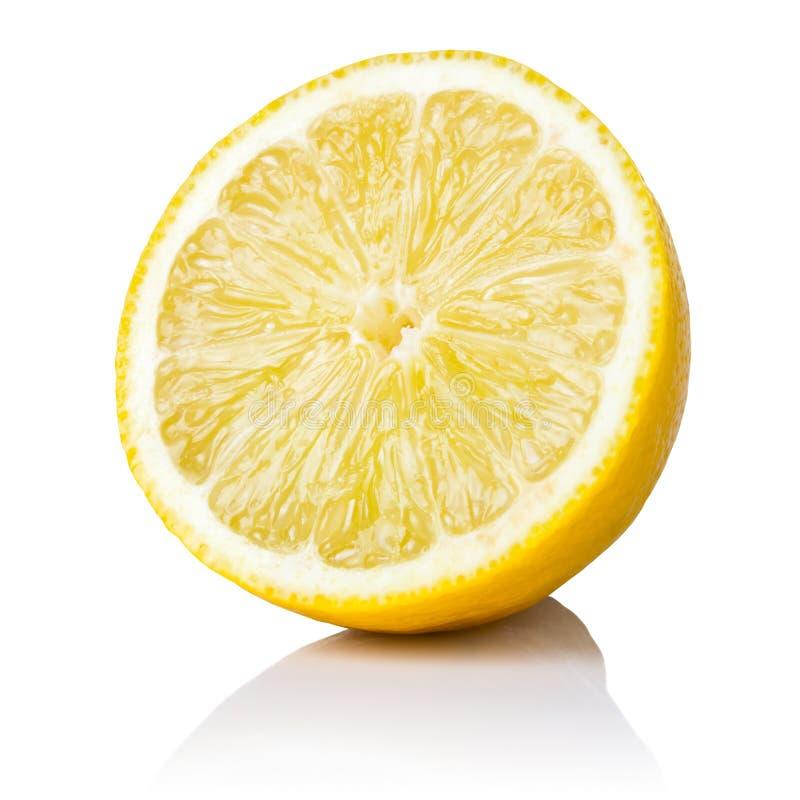 Half Lemon. Fruit on white background, fresh and juicy stock photography