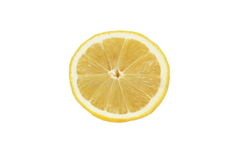 Half a lemon on a white background.  royalty free stock photos