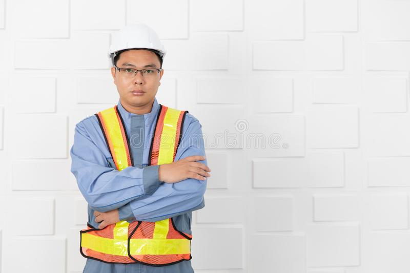 Asian man working stock photo