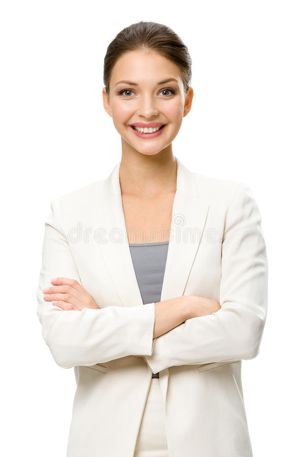Download Half-length Portrait Of Female Executive With Crossed Hands Stock Image - Image: 33914479