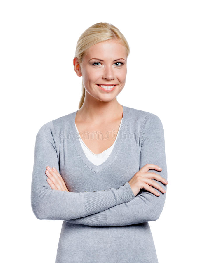 Download Half-length Portrait Of Girl With Arms Crossed Stock Photo - Image: 29944268