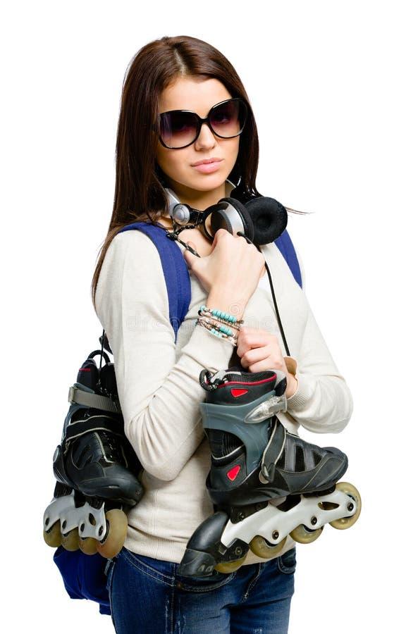 Download Half-length Portrait Of Teenager Keeping Roller Skates Royalty Free Stock Image - Image: 34248526