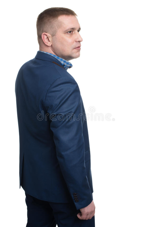 Half-length profile of business man royalty free stock photography