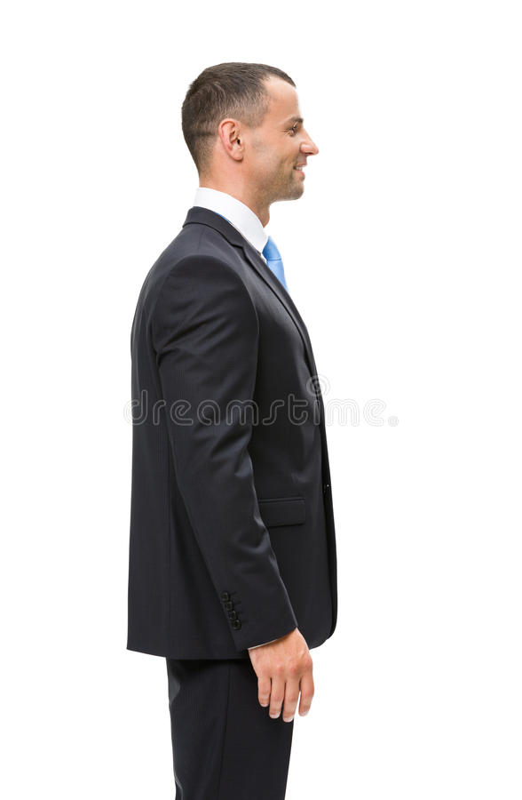 Half-length profile of executive stock photography