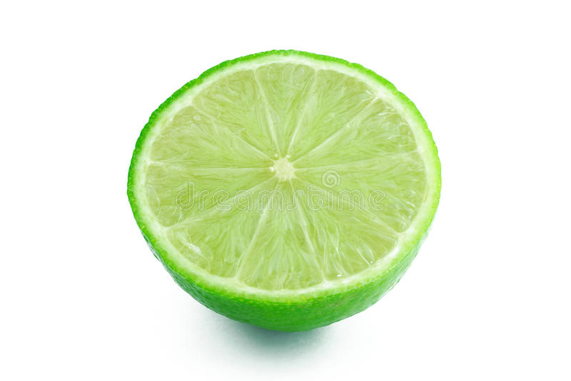 Half of lime royalty free stock images