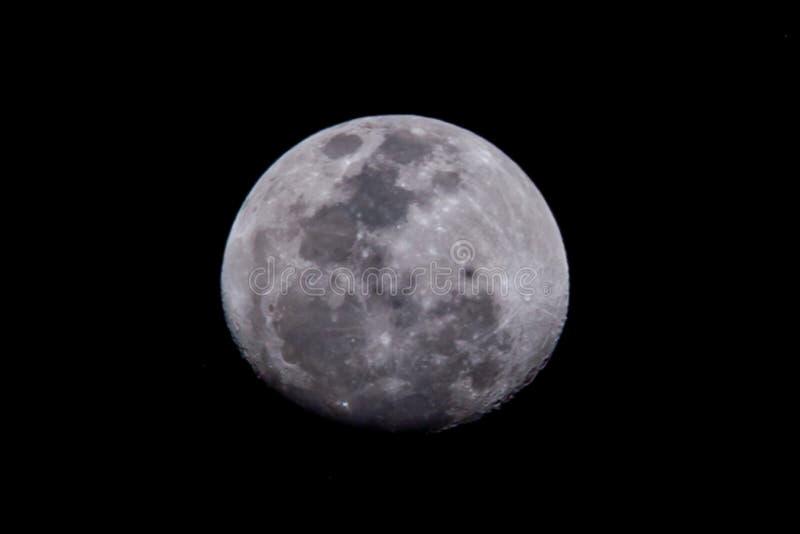 Half maan is een astronomisch lichaam... 's nachts. royalty-vrije stock afbeeldingen