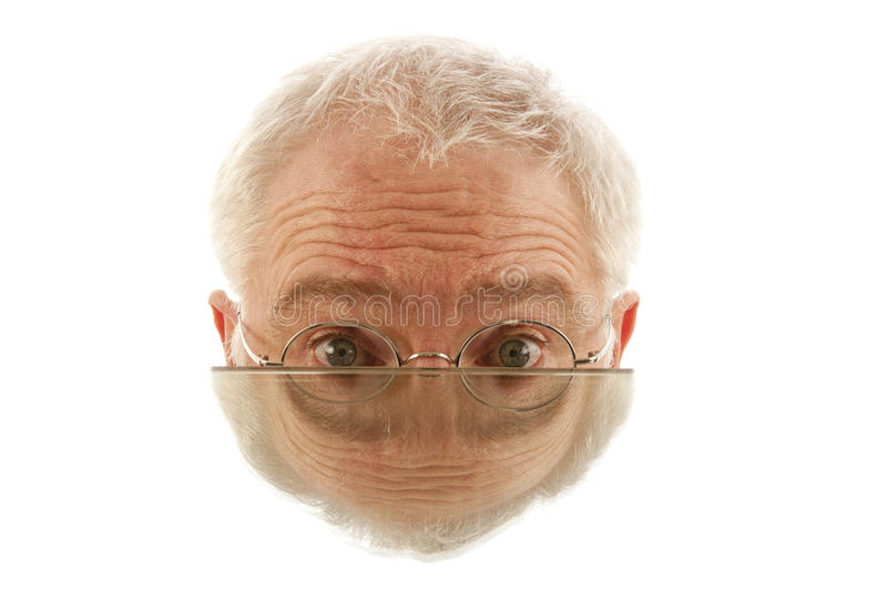 Download Half Male Face In Mirror Stock Photography - Image: 35764662