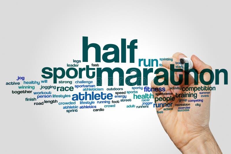 Half marathon word cloud stock photography