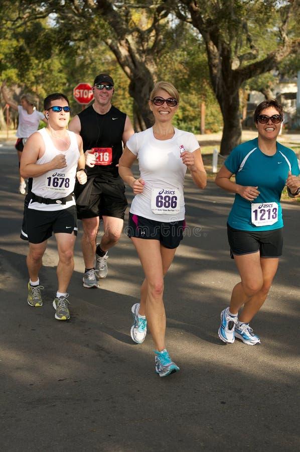 half maraton royaltyfria foton