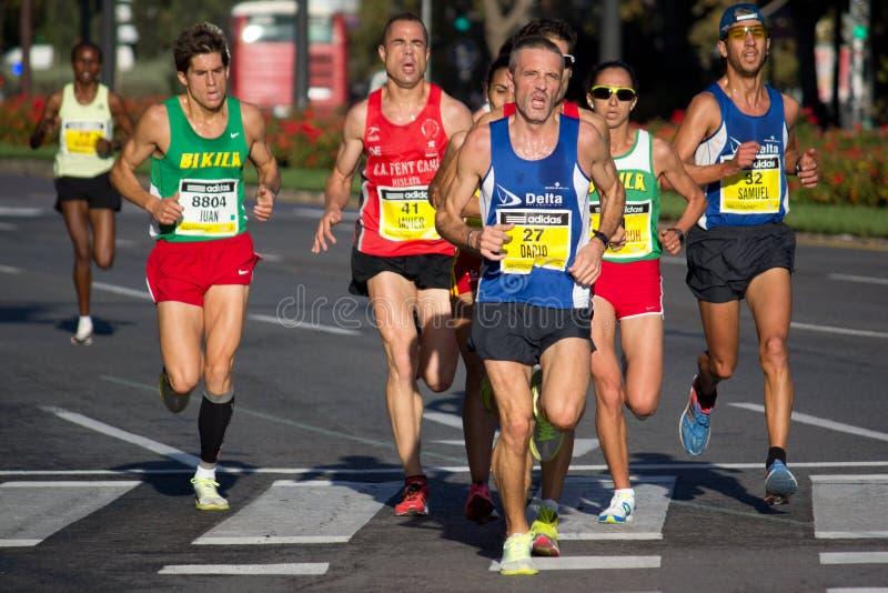 Half maraton arkivbilder
