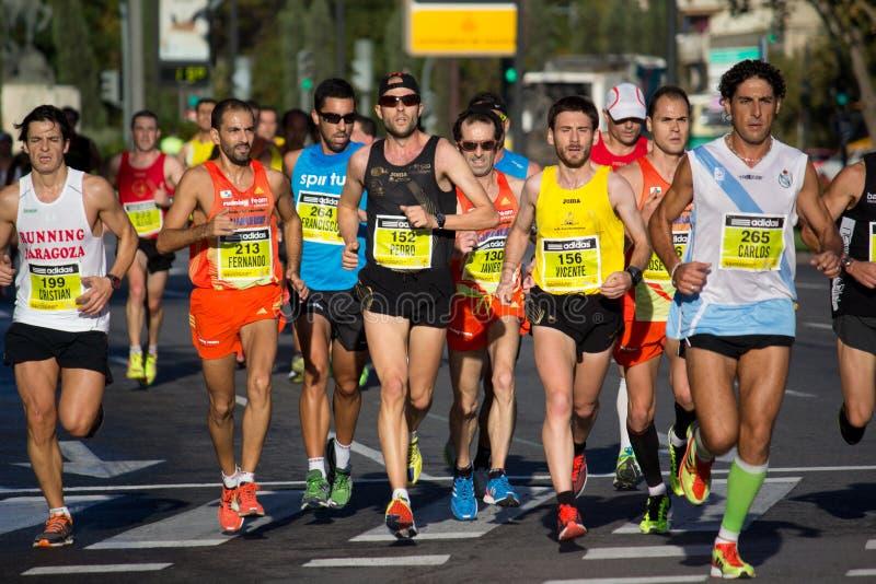 Half maraton royaltyfri fotografi