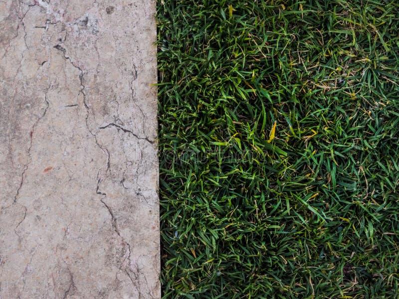 Half marble half grass stock image