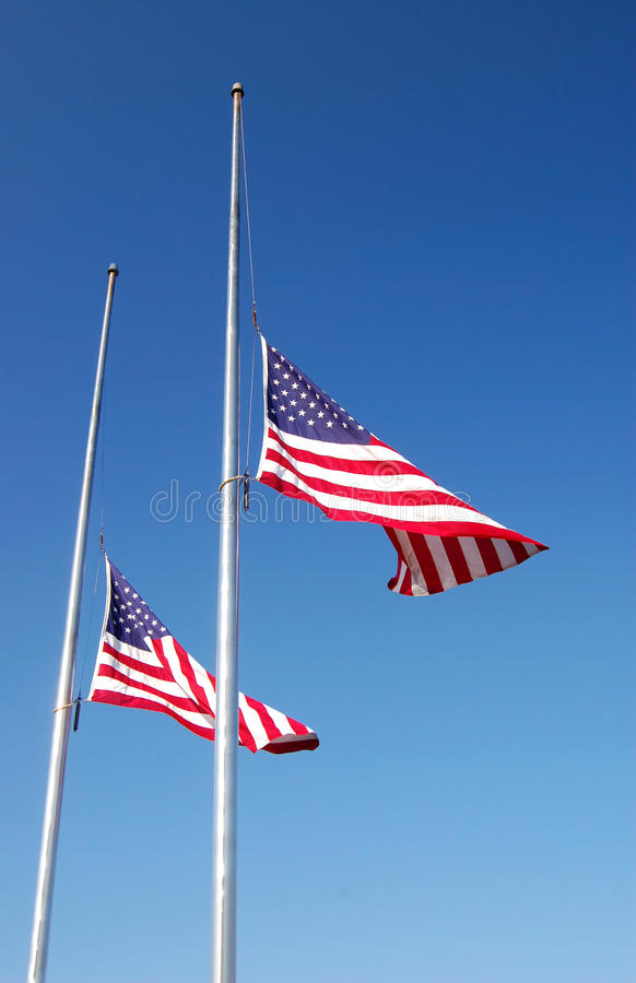Half Mast royalty free stock photography