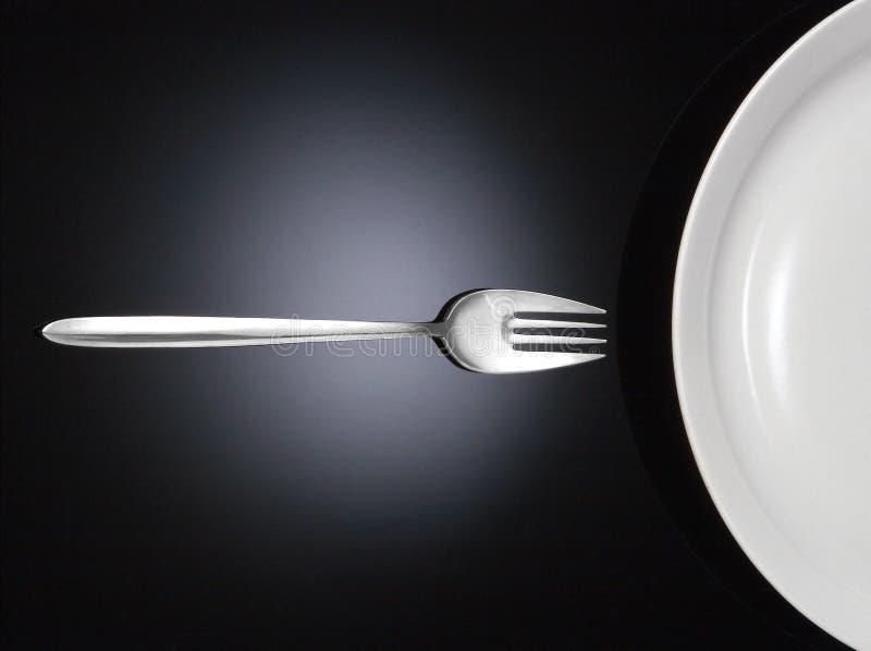 half maträttgaffel fotografering för bildbyråer