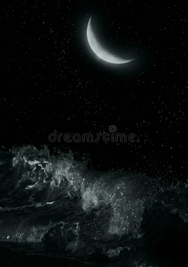 Half moon stock image
