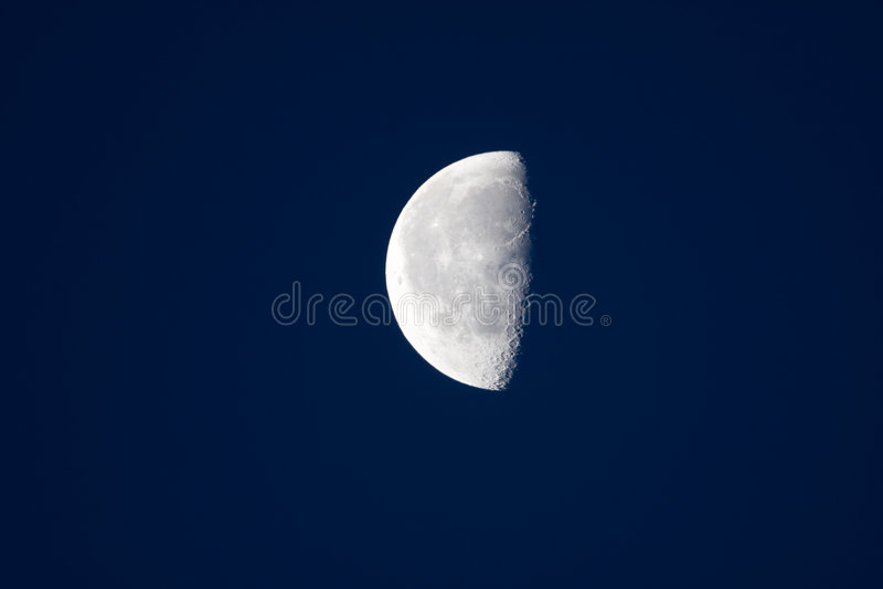 half moon fotografia stock