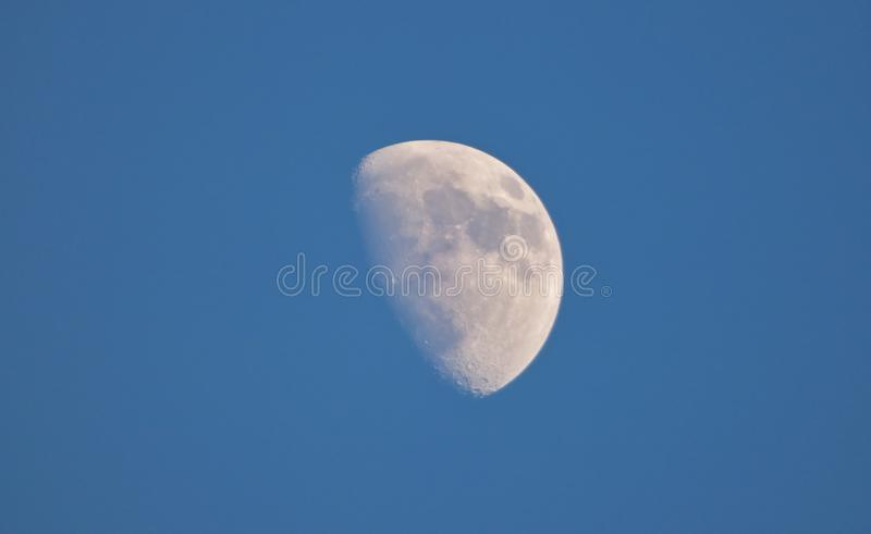 Close up Moon with Blue Sky - UK stock images