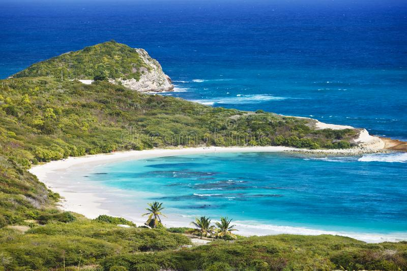 Half Moon Bay, Antigua lizenzfreie stockbilder
