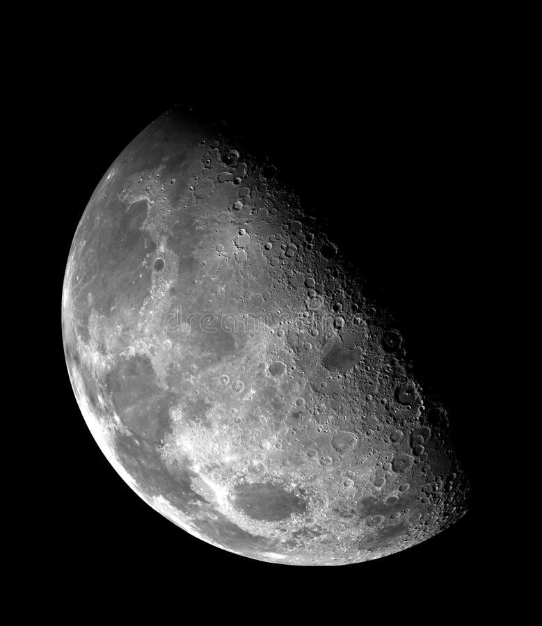 Half Moon In Black And White Free Public Domain Cc0 Image