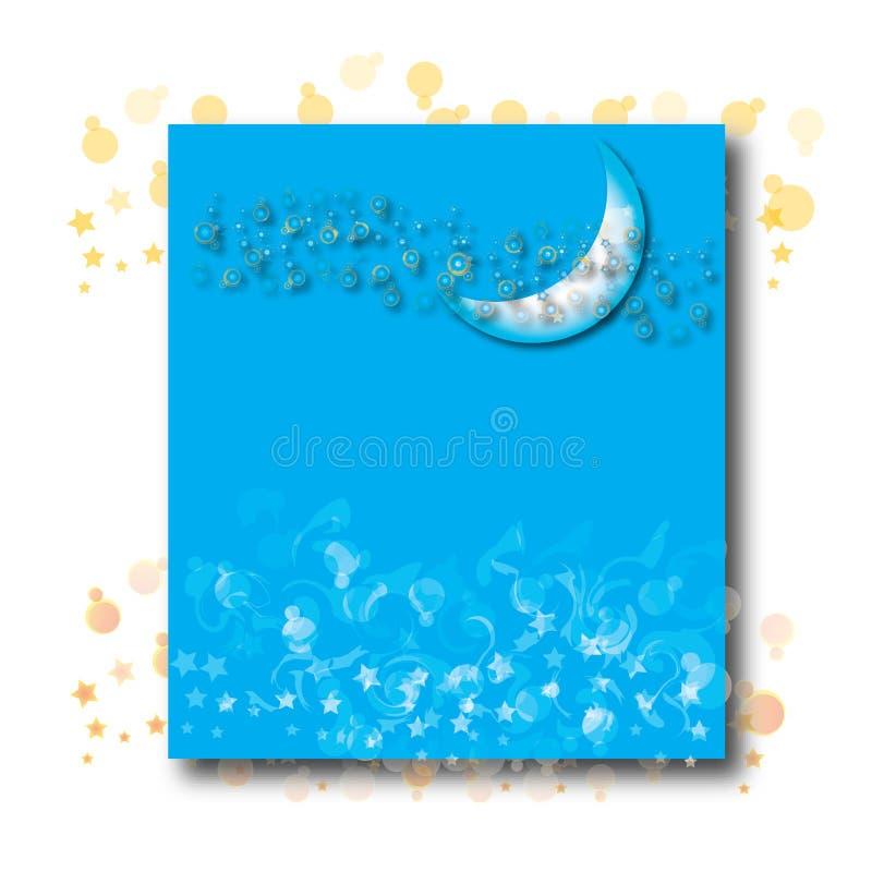 Download Half moon on blue stock illustration. Illustration of blue - 7711364