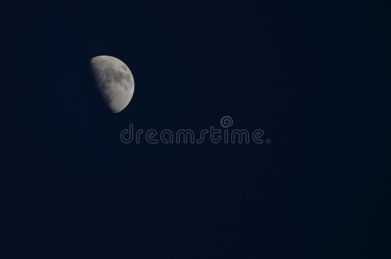 Half Moon at dusk royalty free stock photo