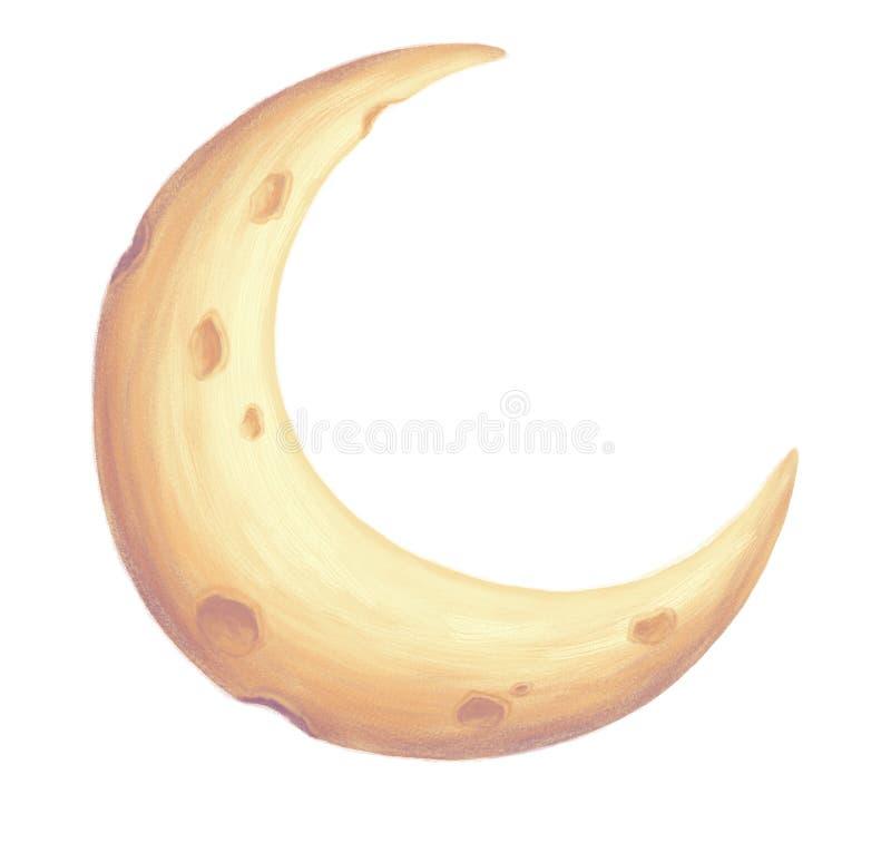 Half moon hand drawn illustration vector illustration