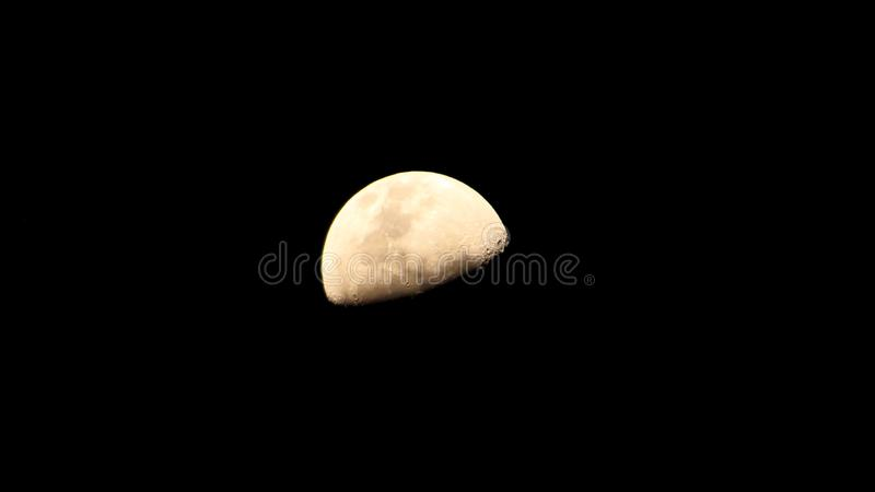 Half moon at midnight stock images