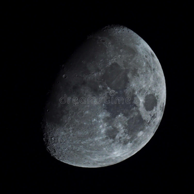 Moon in night sky royalty free stock photography