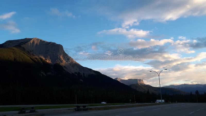 Half mountain stock photo